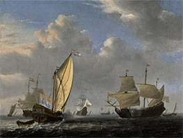 A States Yacht from the Admiralty of Amsterdam | Willem van de Velde | Painting Reproduction