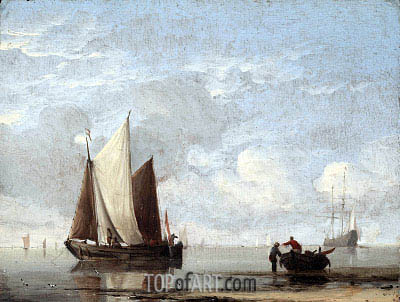Calm Sea, c.1660 | Willem van de Velde | Painting Reproduction