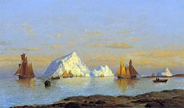 Fishermen off the Coast of Labrador, undated by William Bradford | Painting Reproduction
