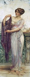 The Purple Scarf, 1913 von William Clarke Wontner | Gemälde-Reproduktion