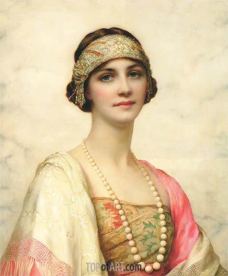 An Elegant Beauty, undated | William Clarke Wontner | Painting Reproduction