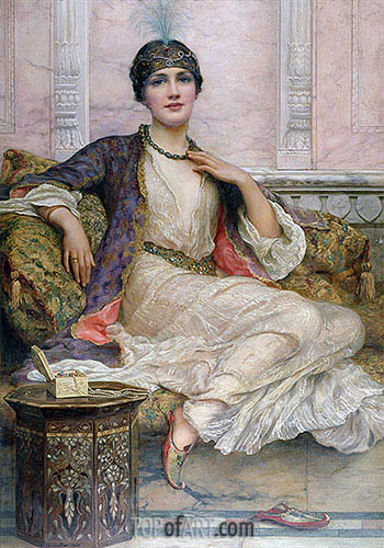 The Jade Necklace, 1908 | William Clarke Wontner | Painting Reproduction