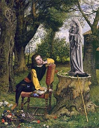 Titian Preparing to make his First Essay in Colouring, 1856 von William Dyce | Gemälde-Reproduktion