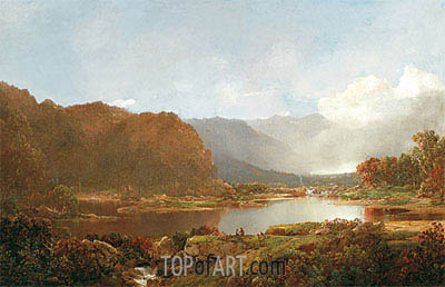 Fishermen in the Adirondacks, c.1860/70 | William Louis Sonntag | Painting Reproduction
