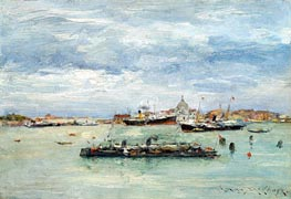 Gray Day on the Lagoon, c.1879 by William Merritt Chase | Painting Reproduction