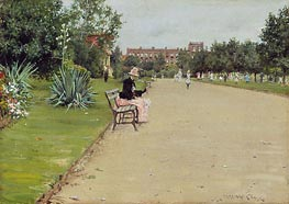A City Park | William Merritt Chase | Painting Reproduction
