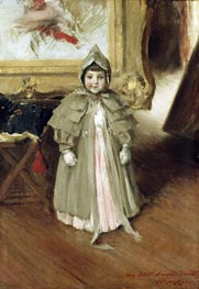 My Little Daughter Dorothy, c.1894 by William Merritt Chase | Painting Reproduction
