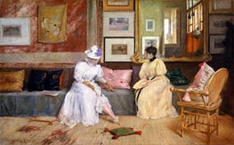 A Friendly Call, 1895 by William Merritt Chase | Painting Reproduction