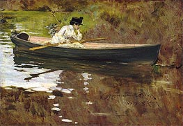 Mrs Chase in Prospect Park, 1886 von William Merritt Chase | Gemälde-Reproduktion