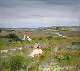 Landscape: Shinnecock, Long Island, c.1896 von William Merritt Chase | Gemälde-Reproduktion