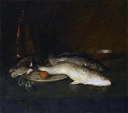 Still Life: Fish, 1908 von William Merritt Chase | Gemälde-Reproduktion