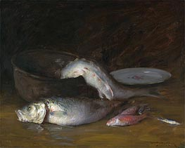 Still Life with Fish | William Merritt Chase | Painting Reproduction