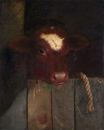 The Family Cow, 1869 von William Merritt Chase | Gemälde-Reproduktion