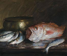 Red Snapper, undated von William Merritt Chase | Gemälde-Reproduktion