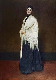 Lady with the White Shawl, 1893 by William Merritt Chase | Painting Reproduction