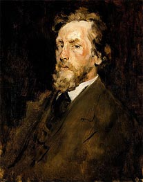 Portrait of Eilif Peterssen, c.1875 by William Merritt Chase | Painting Reproduction