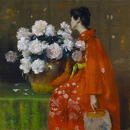 Spring Flowers (Peonies) | William Merritt Chase | Painting Reproduction