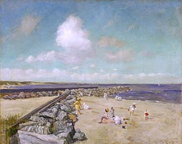 Morning at Breakwater, Shinnecock, c.1897 by William Merritt Chase | Painting Reproduction