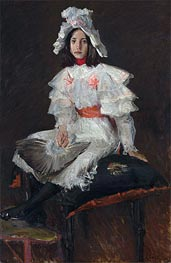 Young Girl in White (Alice Chase, the Artist's Daughter), undated by William Merritt Chase | Painting Reproduction