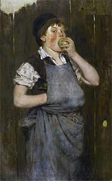 Boy Eating Apple (The Apprentice) | William Merritt Chase | Gemälde Reproduktion
