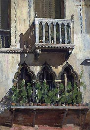Venice Facade, 1878 by William Merritt Chase | Painting Reproduction