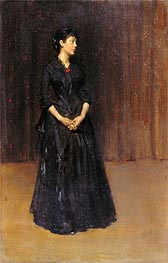 Woman in Black | William Merritt Chase | Gemälde Reproduktion