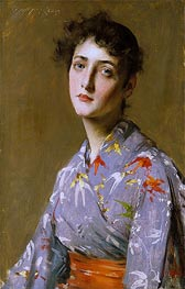 Girl in a Japanese Costume | William Merritt Chase | Gemälde Reproduktion