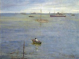 Harbor Scene | William Merritt Chase | Gemälde Reproduktion