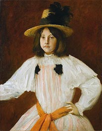 Portrait of Artist's Daughter | William Merritt Chase | Gemälde Reproduktion