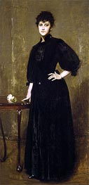 Lady in Black, 1888 by William Merritt Chase | Painting Reproduction