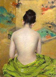 Study of Flesh Color and Gold | William Merritt Chase | Gemälde Reproduktion
