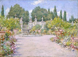 An Italian Garden | William Merritt Chase | Painting Reproduction