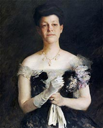 Portrait of Lavinia Borden Cook, c.1905 by William Merritt Chase | Painting Reproduction