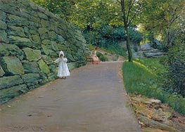 In the Park (A By-path), c.1889 by William Merritt Chase | Painting Reproduction