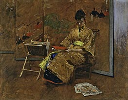 The Kimono, c.1895 by William Merritt Chase | Painting Reproduction