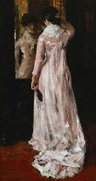 I Think I am Ready Now (The Mirror, the Pink Dress) | William Merritt Chase | Painting Reproduction