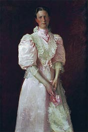 A Study in Pink (Mrs. Robert McDougal), 1895 by William Merritt Chase | Painting Reproduction