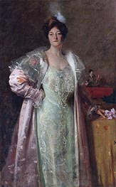 Portrait of Miss J., c.1902 by William Merritt Chase | Painting Reproduction
