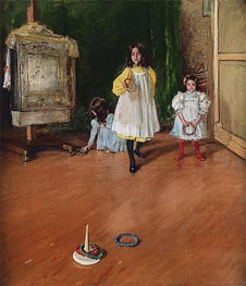 Ring Toss, 1896 by William Merritt Chase | Painting Reproduction