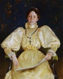 The Golden Lady, 1896 by William Merritt Chase | Painting Reproduction
