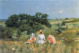 The Tale | William Merritt Chase | Painting Reproduction