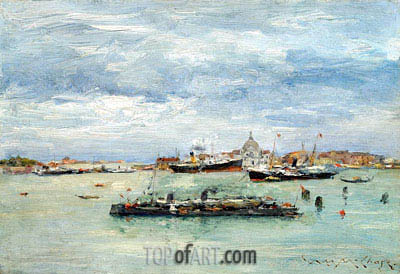 Gray Day on the Lagoon, c.1879 | William Merritt Chase | Painting Reproduction