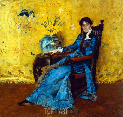 Dora Wheeler, c.1882/83 | William Merritt Chase | Painting Reproduction