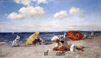 At the Seaside, c.1892 | William Merritt Chase | Painting Reproduction