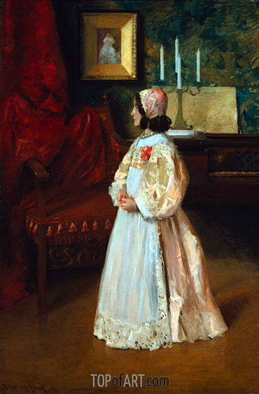 Portrait of My Daughter Alice, c.1895 | William Merritt Chase | Painting Reproduction