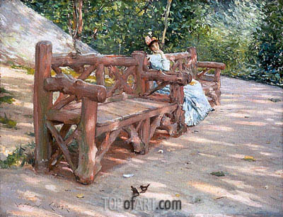 Park Bench, c.1890 | William Merritt Chase | Painting Reproduction