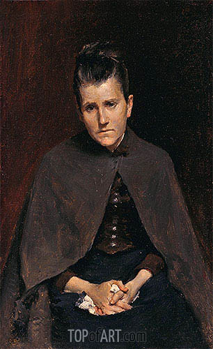 Well I Should Not Murmur, For God Judges Best (Mrs. David Hester Chase, The Artists Mother), c.1878 | William Merritt Chase | Painting Reproduction