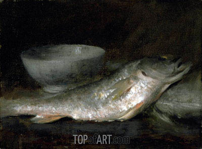 Still Life - Fish and Bowl, undated | William Merritt Chase | Gemälde Reproduktion
