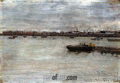 East River, c.1870/85 | William Merritt Chase | Painting Reproduction