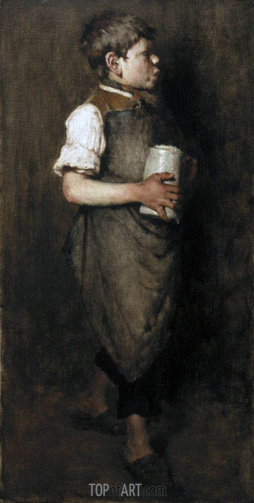 The Whistling Boy, 1875 | William Merritt Chase | Painting Reproduction